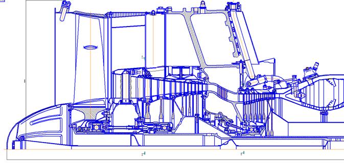 为了提高效率并减小飞机GTE D-36压缩机 的整体尺寸而进行的现代化项目