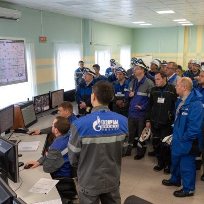 """Yu.V.科祖霍夫和S.V. 卡尔塔索夫参加由俄 罗斯天然气工业股份公司举办的主题为"""" 在天然气生产设施中使用和运行燃气轮机 的经验。 创建涡轮膨胀机设备的有前途的 模型""""的会议"""