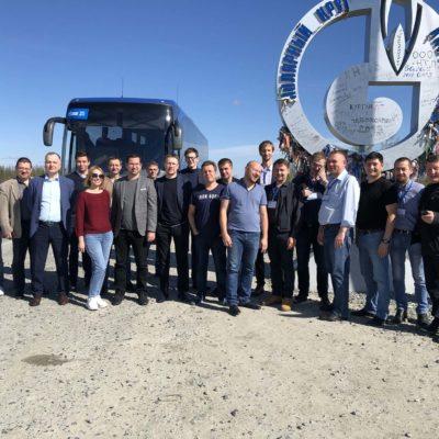 """Yu.V.科祖霍夫和S.V.卡尔塔索夫参加由俄 罗斯天然气工业股份公司举办的主题为"""" 在天然气生产设施中使用和运行燃气轮机 的经验。 创建涡轮膨胀机设备的有前景的 模型""""的会议"""